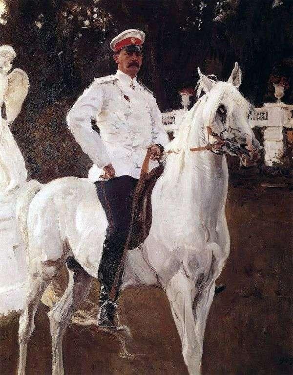 F. F. Yusupov王子的画像   Valentin Serov