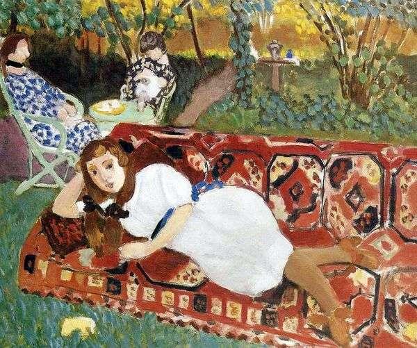 花园里的年轻女性   亨利马蒂斯