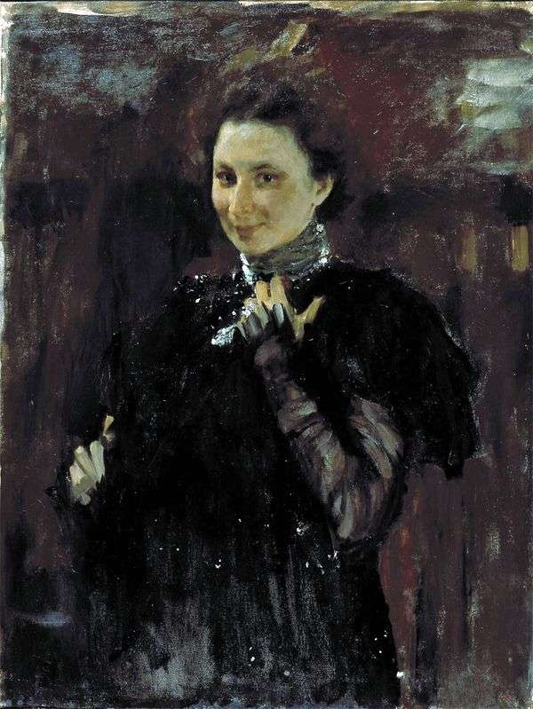 M. K. Olive的肖像   Valentin Serov