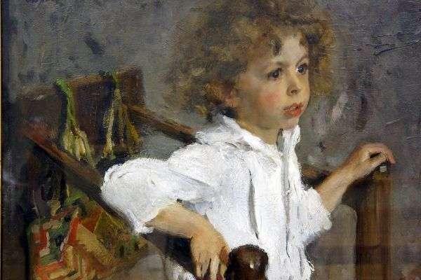 Mika Morozov的肖像   Valentin Serov