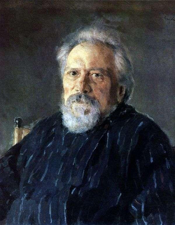 N. S. Leskov的肖像   Valentin Serov
