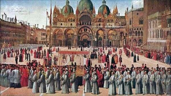 游行在圣马可广场   Gentile Bellini