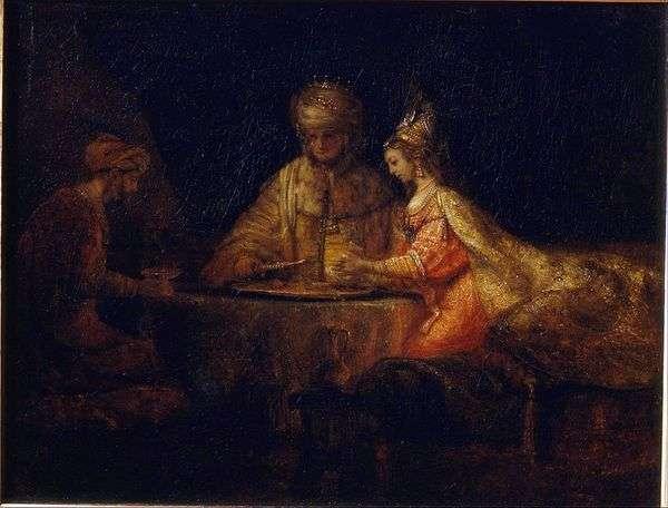 Artaxerxes,Haman和Esther   Rembrandt Harmens Van Rhine