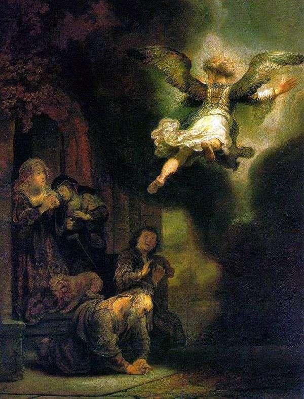 Archangel Raphael,离开Tobiah家族   Rembrandt Harmens Van Rhine
