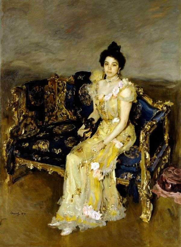 S. M. Botkina的肖像   Valentin Serov