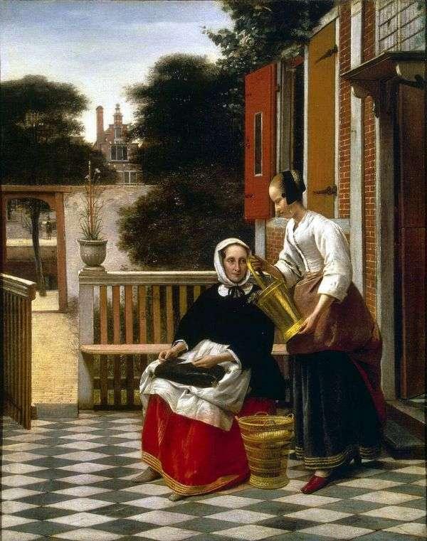 院子里的女主人和女仆   彼得德赫赫