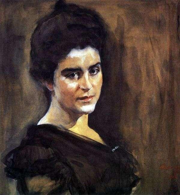 S. M. Dragomirova Lukomskaya   Valentin Serov的肖像