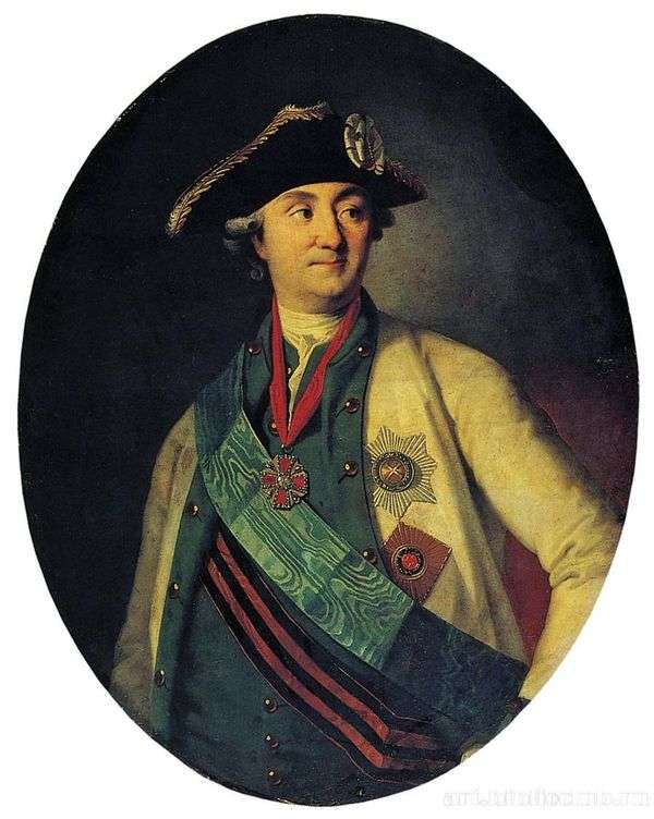 Count A. G. Orlov Chesmensky的肖像   Karl Ludwig Christenak
