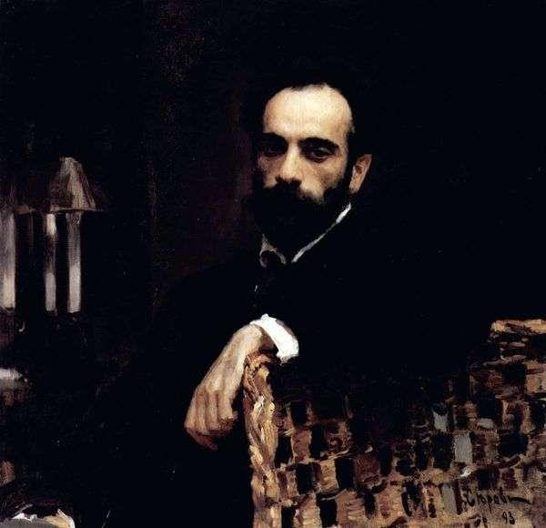 艺术家I. I. Levitan   Valentin Serov的肖像