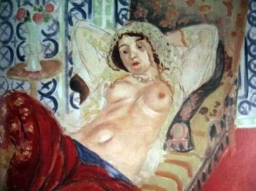 穿红色长裤的Odalisque   Henri Matisse