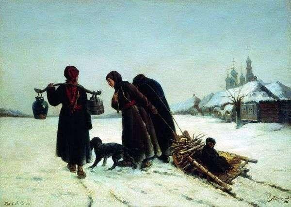 在村里的冬天   阿列克谢Korzukhin