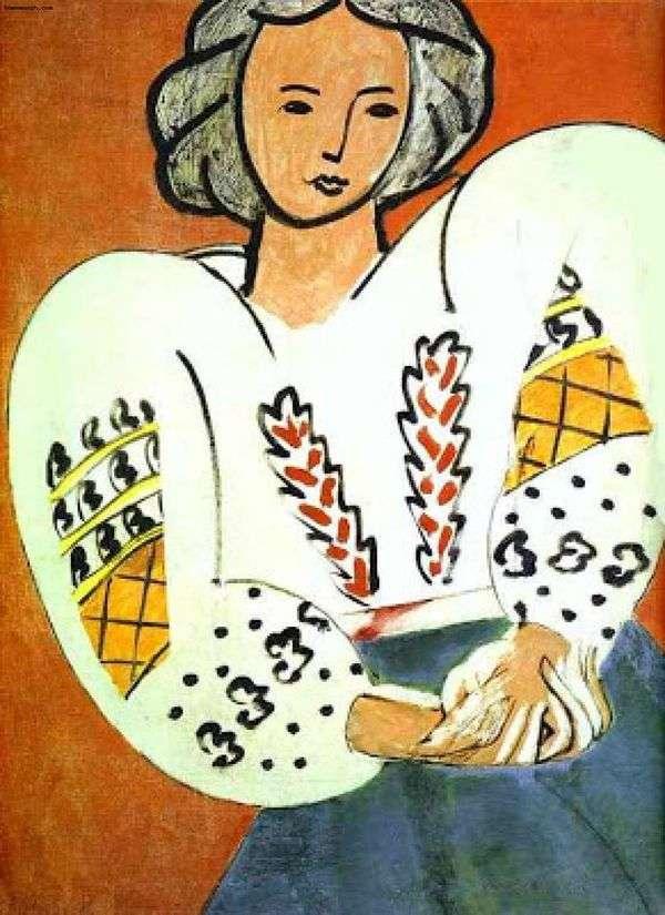 罗马尼亚女式衬衫   亨利马蒂斯