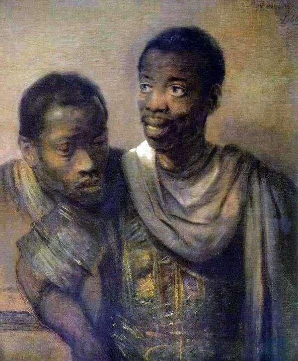 两个黑人   伦勃朗哈门斯范莱茵