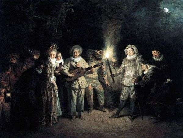 意大利喜剧艺术家   Jean Antoine Watteau