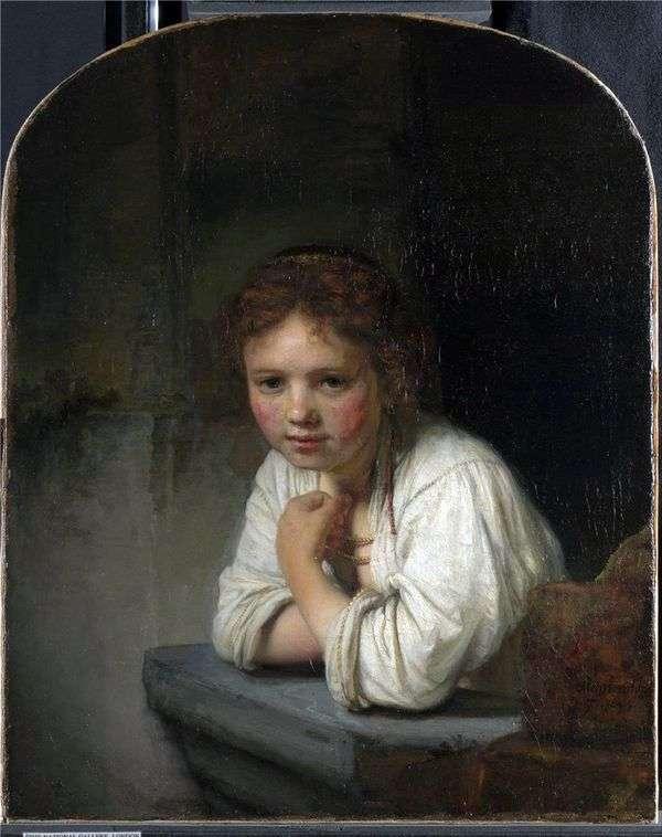 窗边的女孩   伦勃朗哈门斯范莱茵