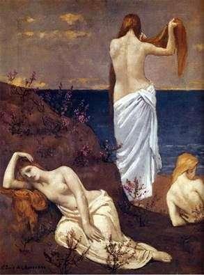 海边女孩   Puvis de Chavannes Pierre Cecile
