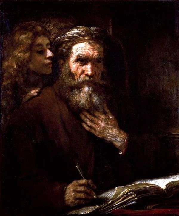 福音派马修和天使   伦勃朗哈门斯范莱茵