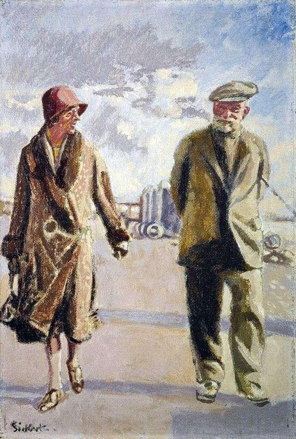 与妻子的自画像   沃尔特理查德西克特