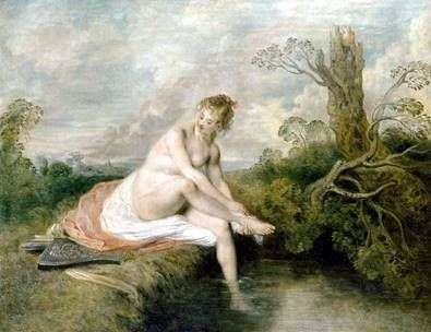 Diana by the Creek   Jean Antoine Watteau
