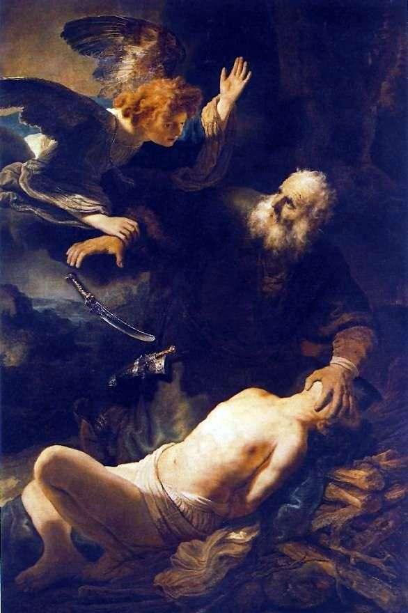亚伯拉罕的牺牲   伦勃朗的哈门斯范莱茵