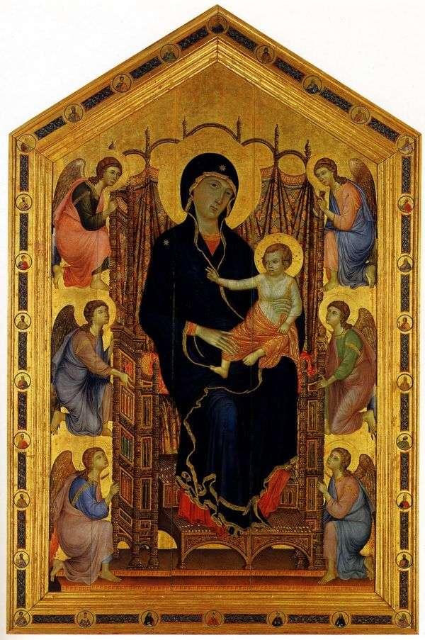 麦当娜与天使   Cimabue