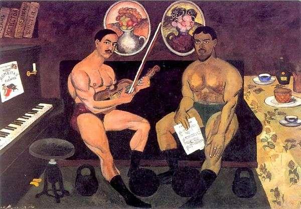 Peter Konchalovsky的自画像和肖像   Ilya Mashkov