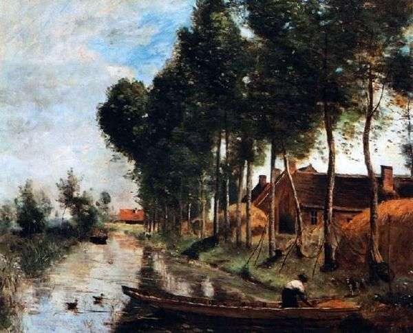在Arles du Nord的风景   卡米耶Corot