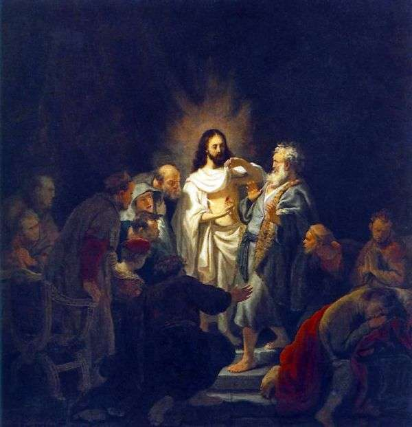 不信使徒托马斯   伦勃朗哈门斯范莱茵