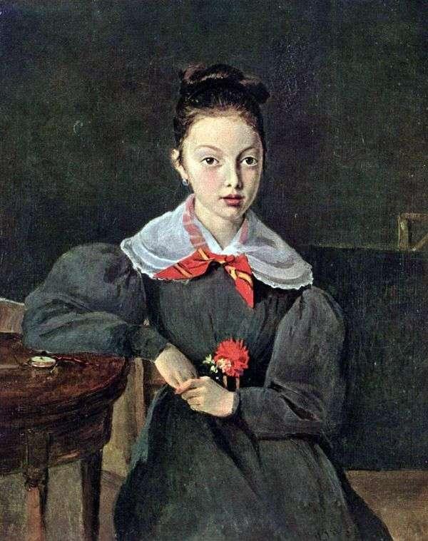 Octavia Sennegon画象   卡米尔Corot