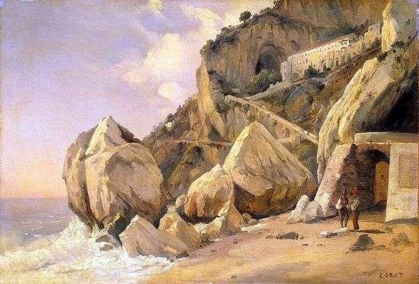 在阿马尔菲的岩石   卡米尔柯罗