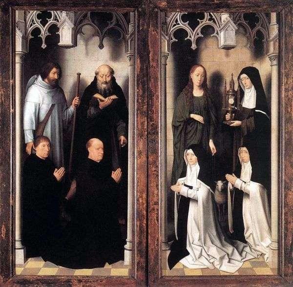 两个约翰的祭坛。外门   汉斯梅姆林