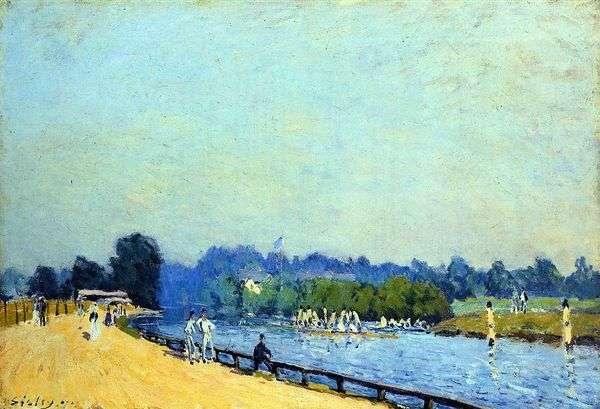 从Hampton Court到Molusi的路   Alfred Sisley