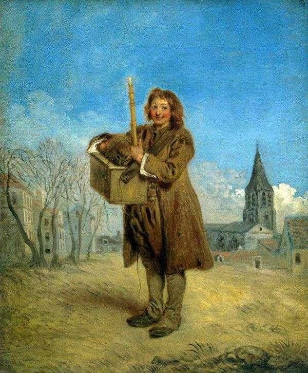 Savoyard与土拨鼠   Jean Antoine Watteau