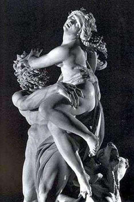 Proserpine的绑架(片段)   Lorenzo Bernini