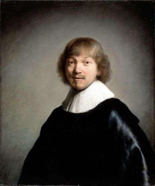 Jacques de Heyne III的肖像   Rembrandt Harmens Van Rhine