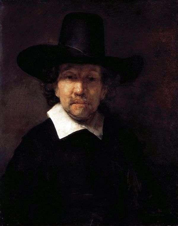 Jeremiah Dekker的肖像   伦勃朗Harmens Van Rhine