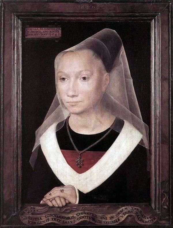 玛丽亚莫雷尔的肖像   汉斯梅姆林