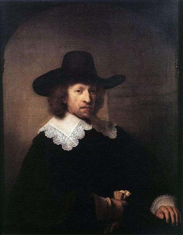 Nicholas Van Bambek的肖像   伦勃朗Harmens Van Rhine