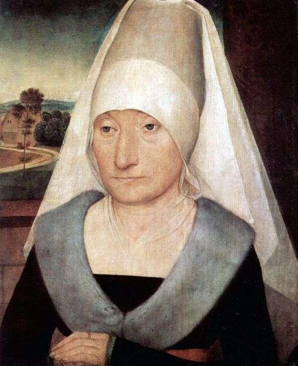 一个老妇人的画象   汉斯Memling