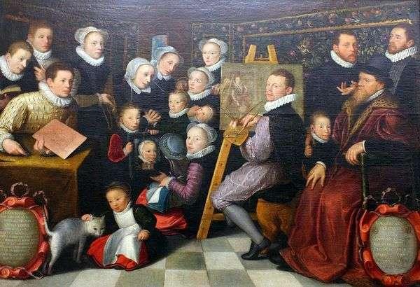 与家人的自画像   奥托范维恩