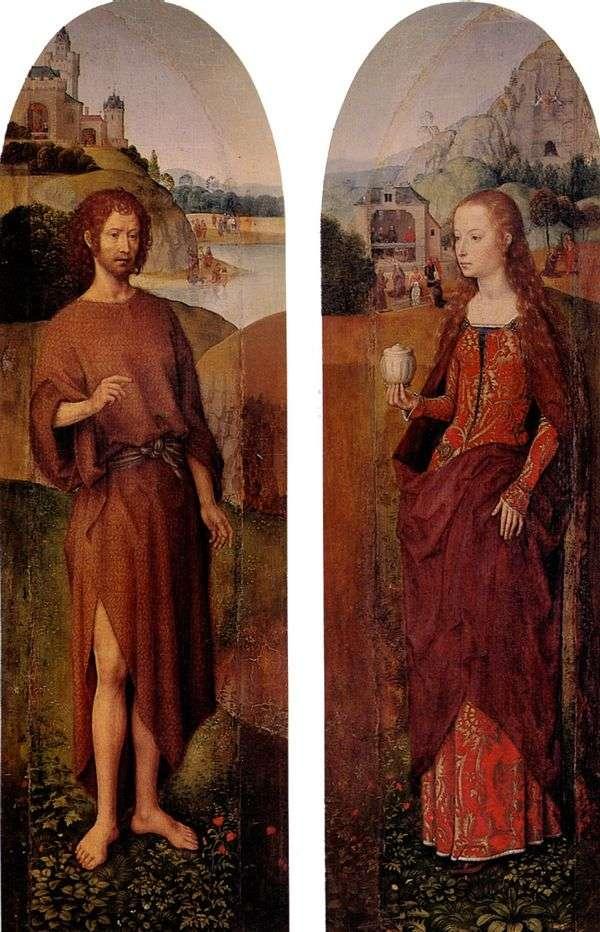 圣约翰浸信会和圣玛丽抹大拉。三联侧腰带   汉斯梅姆林