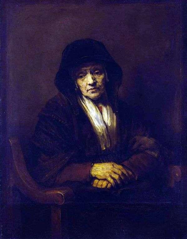 一个老妇人的画象   伦布兰特哈门斯范莱茵河