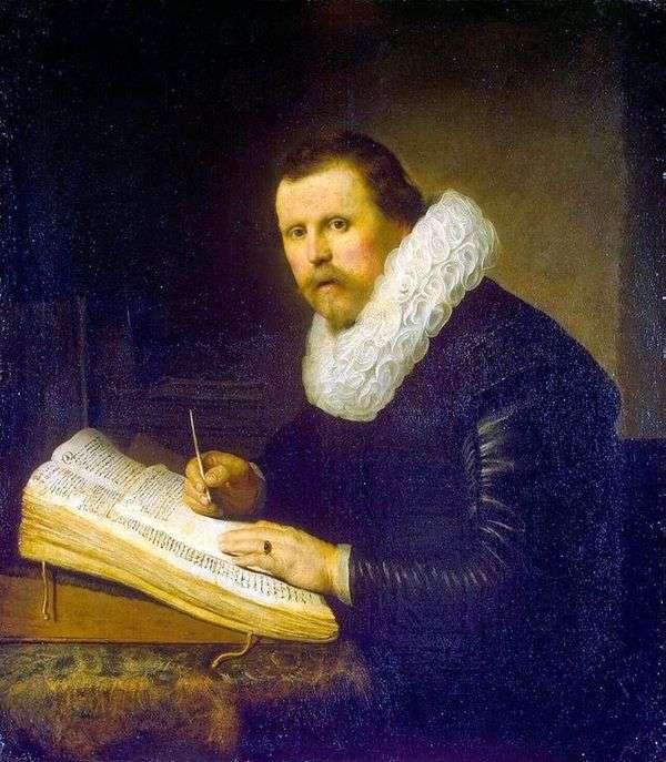 科学家的肖像   伦勃朗哈门斯范莱茵