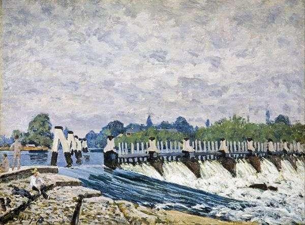 在汉堡法院附近的莫尔西大坝   阿尔弗雷德希思黎