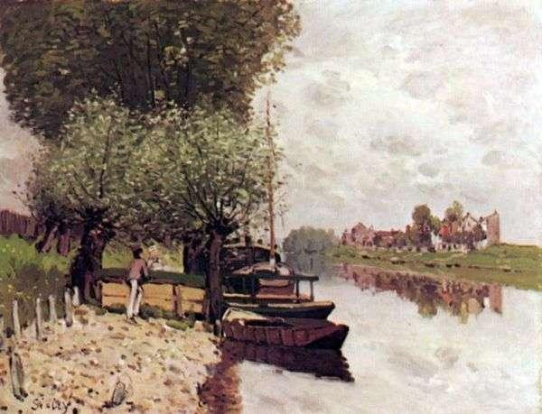 在Bougivalm附近的塞纳河   阿尔弗雷德希思黎