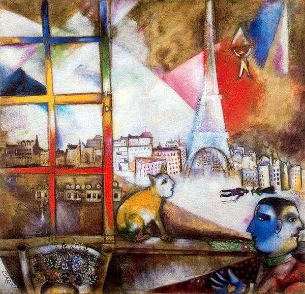 巴黎从窗口   马克夏加尔