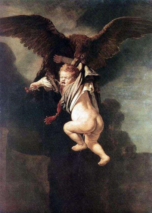 绑架Ganymede(鹰之爪中的木卫三)   伦勃朗Harmens Van Rhine