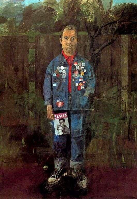 杂志的自画像   彼得布莱克
