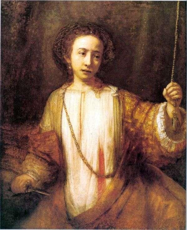 Lucretia自杀   Rembrandt Harmens Van Rhine