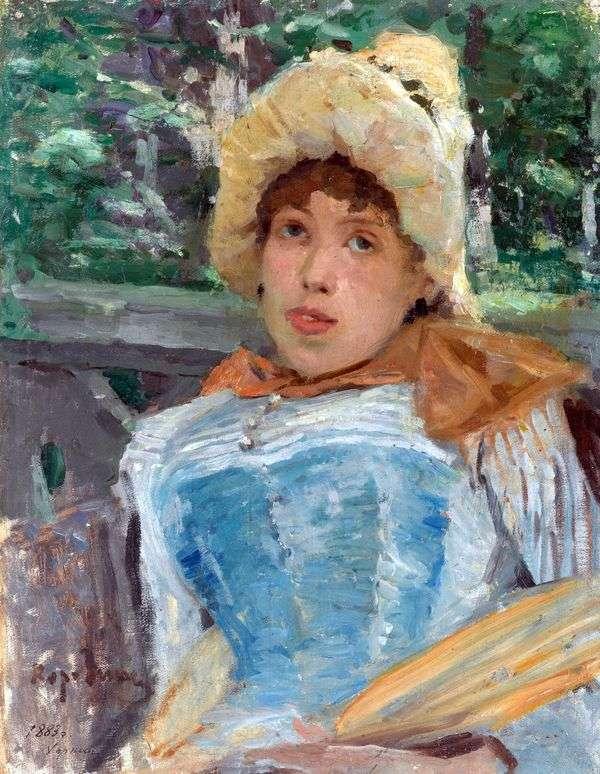 合唱女孩的画象   康斯坦丁Korovin